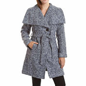 Excelled® Belted Boucle Wrap Jacket