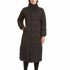 Excelled® Faux-Fur Trim Long Puffer Jacket