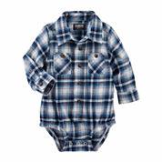 OshKosh Blue Plaid Bodysuit 3-24M