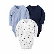 Carter's® 3-pk. Long-Sleeve Sports Bodysuits - Baby Boys newborn-24m