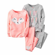 Carter's® 4-pc. Fox Pajama Set - Baby Girls newborn-24m