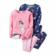 Carter's® 4-pc. Cotton Pajama Set - Baby Girls newborn-24m