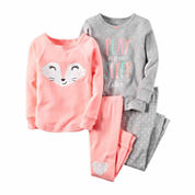 Carter's® 4-pc. Fox Pajama Set - Toddler Girls 2t-5t