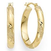 Laser-Cut 14K Yellow Gold 15mm Hoop Earrings