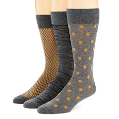 Stafford® Mens 3-pk. Cotton-Rich Crew Socks
