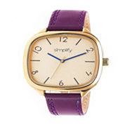 Simplify Unisex Purple Strap Watch-Sim3507