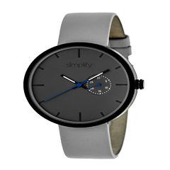 Simplify Unisex Gray Strap Watch-Sim3903