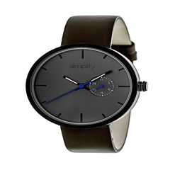 Simplify Unisex Brown Strap Watch-Sim3906