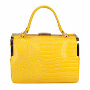 SWG Lourdes Vegan Croc Leather Doctor Satchel Bag