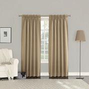Sun Zero Emory 2-Pack Room Darkening Pinch-Pleat Curtain Panels