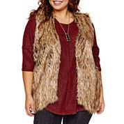Alyx Faux Fur Vest-Plus