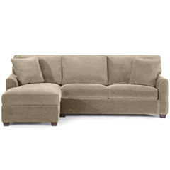 Fabric Possibilities Sharkfin-Arm 2-pc. Left-Arm Chaise/Loveseat Sectional