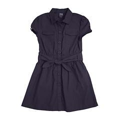 French Toast® Canvas Safari Dress - Preschool Girls 4-6x