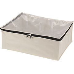 Household Essentials® Zippered Canvas Blanket Storage Bag