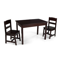 KidKraft® Avalon Rectangle Table and 2 Chairs Set - Espresso