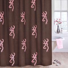 Browning Buckmark Pink Shower Curtain