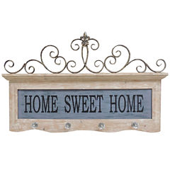 Home Sweet Home Hooks Wall Decor