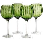 Artland Cambria Set of 4 Wine Glass Goblets