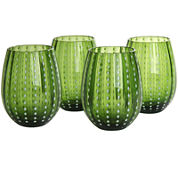 Artland Cambria Set of 4 Stemless Glass Tumblers