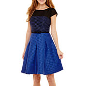 Danny & Nicole® Short-Sleeve Fit-and-Flare Dress