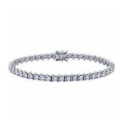 Diamonart Womens White Cubic Zirconia Tennis Bracelet