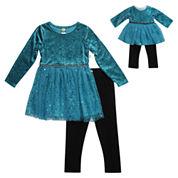 Young Land Girls Legging Set-Preschool