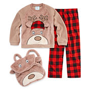 Bunz Kidz Boys Long Sleeve Pant Pajama Set-Preschool