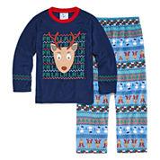 Bunz Kidz Boys Long Sleeve Pant Pajama Set-Preschool