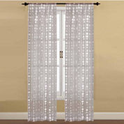Bubbles Sheer Rod-Pocket 2-Pack Curtain Panels
