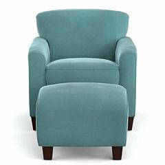 Leo Park Chair and Ottoman