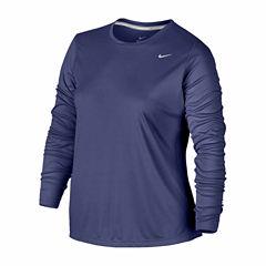 Nike Long Sleeve Crew Neck T-Shirt-Plus