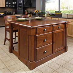 Redford Kitchen Island and Counter-Height Barstool Collection