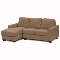 Leather Possibilities Track-Arm 2-pc.Left-Arm Sectional
