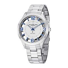 Stührling® Original Mens Stainless Steel Spoke-Style Watch 8123.05