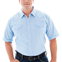 Ely Cattleman® Short-Sleeve Western Shirt-Big & Tall