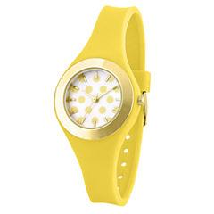 Womens Yellow Strap Watch