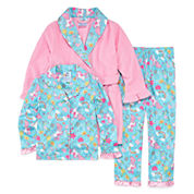 Girls Pajamas + Robe Set-Preschool