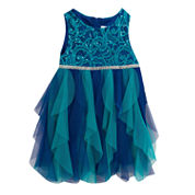 Rare Editions Sleeveless Party Dress - Preschool