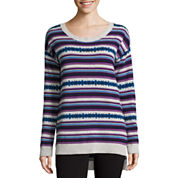 Arizona Long Sleeve Easy Tunic Sweater - Juniors