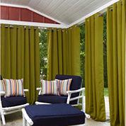 Greendale Grommet-Top Outdoor Curtain Panel