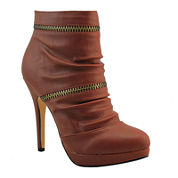 Michael Antonio Molly Zipper-Detail Booties