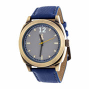 Brooklyn Exchange Mens Blue Strap Watch-Nwl399010ag-Bl