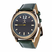 Brooklyn Exchange Mens Green Strap Watch-Nwl399010ag-Gr