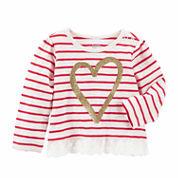 Oshkosh Girls Long Sleeve T-Shirt-Baby