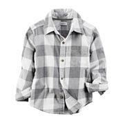 Carter's Boys Long Sleeve Button-Front Shirt