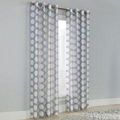 Grommet-Top Sheer Curtain Panel