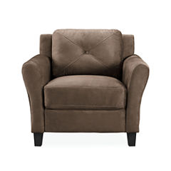 Hartford Microfiber Rolled Arm Chair