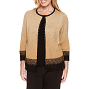 Alfred Dunner 3/4 Sleeve Layered Sweater