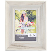 Whitewash Scoop Picture Frame