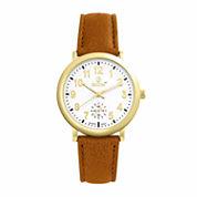 Decree Womens Brown Strap Watch-Pt1781gdcg